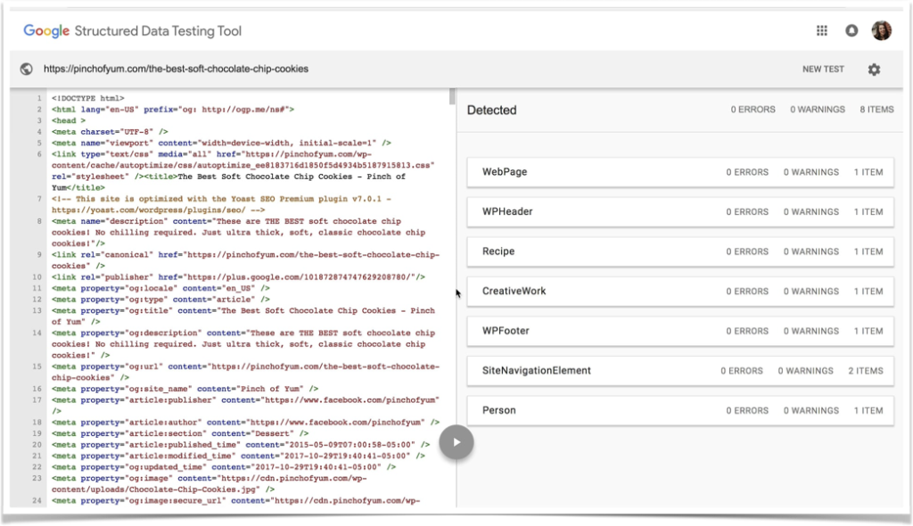 Structured Data Testing